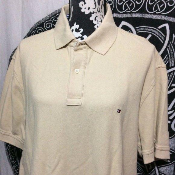 Tommy Hilfiger Men's Short Sleeve Polo T- Shirt LG